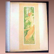 SALE: Original Signed French Lithograph 'Renouveau' L'Estampe Moderne Art Nouveau 1897.