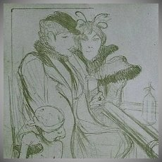 Toulouse-Lautrec Lithograph~Limited Edition 1927 Sheet Music Cover