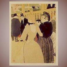 SALE: Toulouse-Lautrec Small Format Lithograph. 'La Goulue & Her Sister' c1932