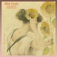 SALE: Art Nouveau French 'Gala Peter' Advertising Postcard 'Le Soleil'  Sunflower 1904.