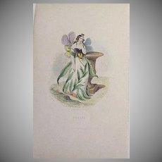 SALE: Grandville French Engraving 'Pensee' 1867.