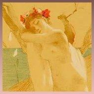 SALE: Original French Lithograph L'Inconnue 1897 L'Estampe Moderne. Signed Art Nouveau era. Rare.