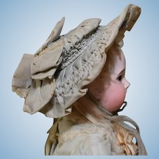 Pale Blue Crinoline Doll Hat