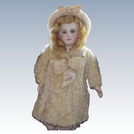 Rare Antique Mohair Doll Coat and Hat