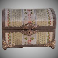 Rare and Early French Fashion Doll Chest