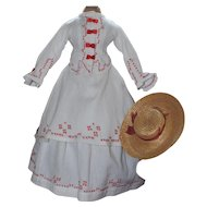 French Fashion Dress with Matching Hat