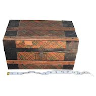 Colorful Antique Doll Trunk
