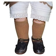 Wonderful Ribbed Doll Socks