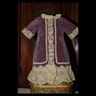 Wonderful Petite Velvet Doll Dress