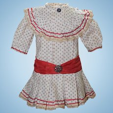 Precious Cotton Doll Dress for
