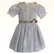 Sweet Pale Blue Silk Doll Dress