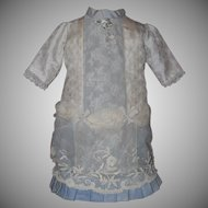 Pretty Slate Blue Lacy Doll Dress