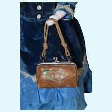 Leather French Fashion Doll Handbag