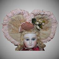Beautiful Heart Shaped Doll Bonnet