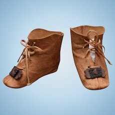 Nice Tan Leather Doll Boots