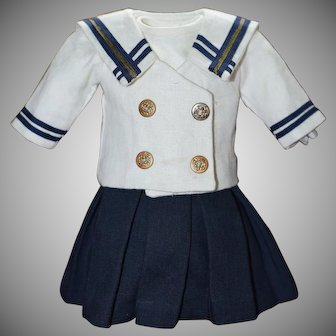 Mariners Outfit for an Antique Doll