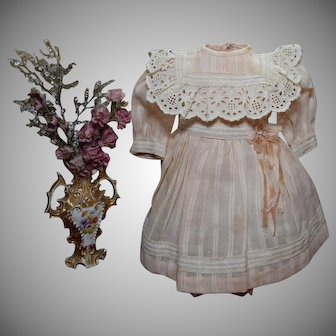 Sweet Pink Cotton Doll Dress