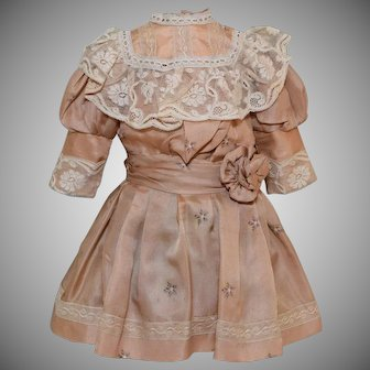 Silk Beige Doll Dress