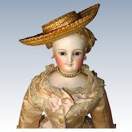 Great Straw French Fashion Doll Hat