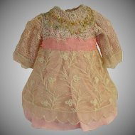Adorable Lace-Over Doll Dress