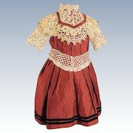 Beautiful Rust Colored Doll Dress