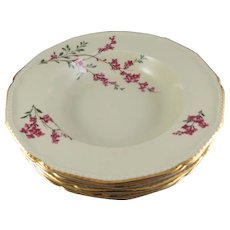 Royal Bayreuth Five Rimmed Soup Bowl Germany U.S. Zone