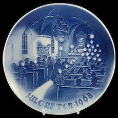 "1968 Bing and Grondahl Christmas Plate ""Christmas in Church"" B&G Denmark"