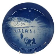"1972 Bing and Grondahl Christmas Plate ""Christmas in Greenland"" B&G Denmark"