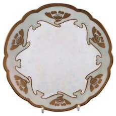 6 Gorgeous Hand Painted Art Nouveau Plates with Poppies Limoges France 1907 - Red Tag Sale Item