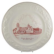 Commemorative Plate From Aldersgate United Methodist Church in San Antonia, Texas