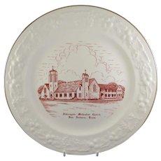 Commemorative Plate From Aldersgate United Methodist Church in San Antonia, Texas