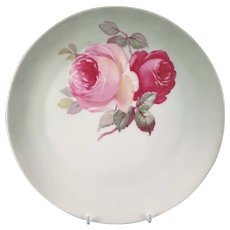"Vintage Plate with Roses ""Z. S. & Co."" Bavaria"