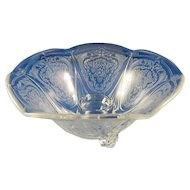 Hazel Atlas Royal Lace Depression Glass Candle Holder Pair c.1934-1941