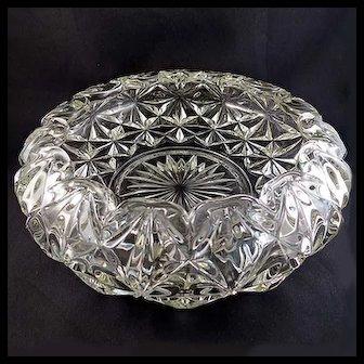EAPG, Williamsburg Serving Bowl, U.S. Glass Co. #308, Star Center