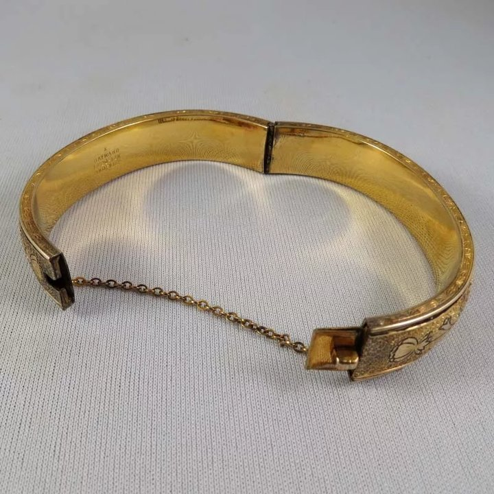 Vintage Hayward 1 20 12k Gold Filled Bangle Bracelet Sold Ruby Lane