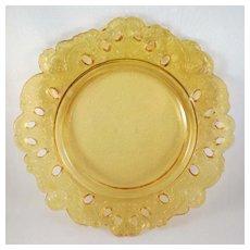 Vintage Angel Serving Dish Amber Color
