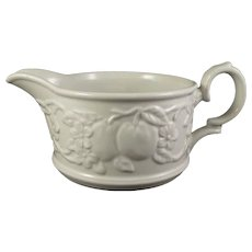 Myott Staffordshire White Ironstone Creamer Embossed Fruit
