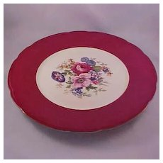 "Baronet ""Carmen Pattern"" Service Plates, F&B Co. Czechoslovakia, Set of 6"