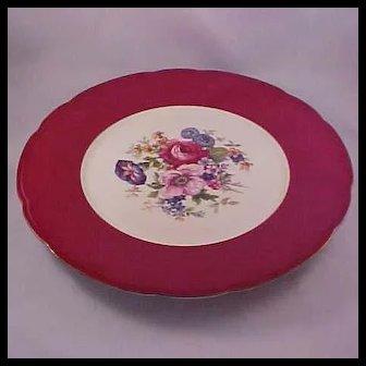 "Baronet ""Carmen Pattern"" Service Plates, F&B Co. Czechoslovakia, Set of 6"