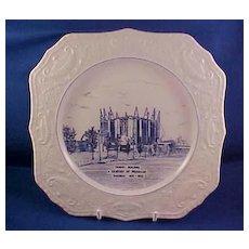 Pickard Chicago Centennial Plate 1933