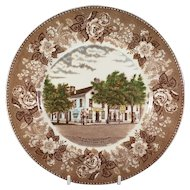 The Old Talbott Tavern Bardstown KY. Souvenir Plate, Old Staffordshire