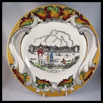 Old Fort Garry, Winnipeg, Canada Souvenir Plate, Royal Staffordshire