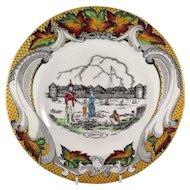 Old Fort Garry, Winnipeg, Canada Souvenir Plate, Royal Staffordshire