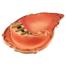 Large Lefton Ash Tray with Embossed Gold Trim