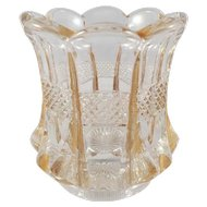 EAPG Vintage Pattern Glass Toothpick Holder Banded Portland U.S. Glass c. 1901