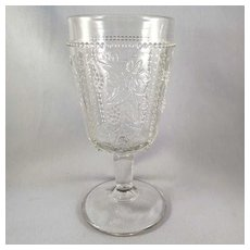 EAPG Goblet U.S. Glass No. 15,059 – Beaded Grape c. 1899
