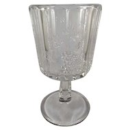 EAPG Heavy Paneled Grape Goblet c. 1894