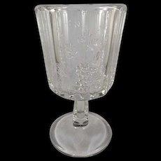 EAPG Heavy Paneled Grape Goblet c. 1894