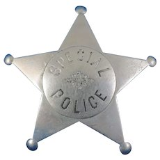 Vintage Special Police Badge with 5 Point Star