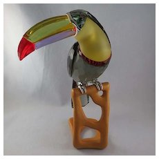 Swarovski Crystal Paradise Birds Black Diamond Toucan 850600